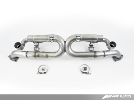 AWE Tuning SwitchPath Exhaust, for  Porsche 991 Non-PSE cars - Chrome Silver Tips