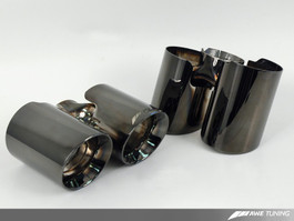 AWE Tuning Diamond Black Exhaust Tip Set for 2007-09 Porsche 911 3.6L Turbo