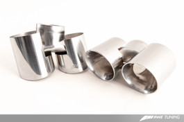 AWE Tuning Polished Silver Quad Tips for 997.2 Turbo and Turbo S