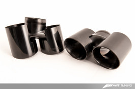 AWE Tuning Diamond Black Quad Tips for 997.2 Turbo and Turbo S