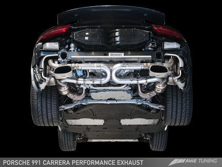 AWE Tuning Performance Exhaust for Porsche 911 Carrera 991, use Stock Tips