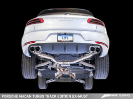 AWE Tuning Track Edition Exhaust System - Diamond Black 102mm Tips for Porsche Macan