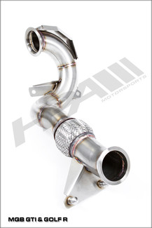 HPA Catted Downpipe for Mk7 VW GTI MQB 2wd (HVA-254-STREET)