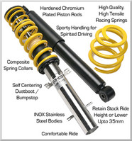 HPA SHS Coilovers for VW Golf 1.4L Engine (Mk6)