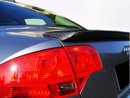 DEVAL Trunk Spoiler (FRP Version) for 2006-08 Audi A4 (D2623S1). (NOTE: Carbon Fiber Version pictured for reference only)