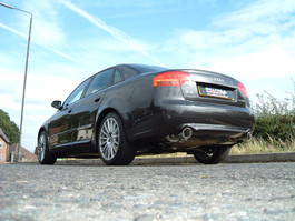 Milltek Catback Exhaust Non-Resonated, 100MM GT Style Tips for Audi B7 A4 2.0T Quattro Man Trans Cars (SSXAU515)