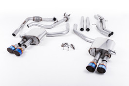 Milltek Cat-Back Non-Resonated Quad GT-100 Burnt Titanium Tips for Audi B9 S4 Turbo V6 (SSXAU653)