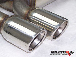 Milltek Non-Resonated Cat-Back Exhaust, Twin 80mm GT80 Tips for Audi S3 8P 2.0 T quattro 3-Door (SSXAU123)
