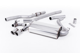 Milltek OE-Style Twin Outlet Non-Resonated Exhaust, Polished Tips, for Manual Transmission (SSXBM1002)
