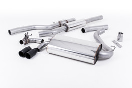 Milltek OE-Style Twin Outlet Resonated Exhaust, Cerakote Black tips, for Manual Transmission (SSXBM1001)