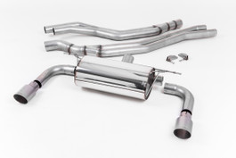 Milltek Cat Back Resonated Exhaust, Titanium GT-90 Trims for BMW M240i Coupe (F22 LCI) (SSXBM1052)
