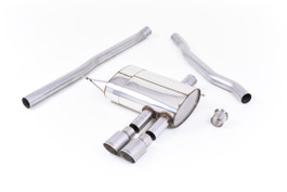 Milltek Non-resonated Cat-Back Exhaust with Titanium Tips for (F56) Mini Cooper S 2.0 Turbo (SSXM424)