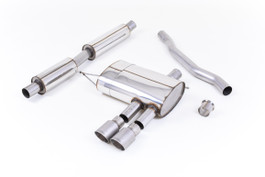 Milltek Cat Back Resonated Exhaust with Titanium Tips for (F56) Mini Cooper S 2.0 Turbo (SSXM425)