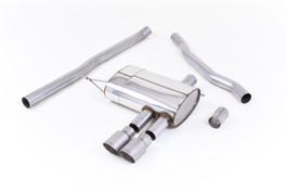 Milltek Non-Resonated Cat-Back Exhaust, Titanium Tips for F56 Mini Cooper S 2.0 Turbo, UK/Euro (SSXM422)