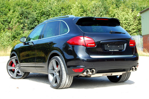 Milltek Non-Resonated Cat Back Exhaust, OEM look for Porsche Cayenne 958 Turbo 4.8 V8 (SSXPO108)