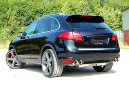 Milltek Resonated Cat Back Exhaust, OEM look for Porsche Cayenne 958 Turbo 4.8 V8 (SSXPO109)