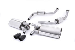 Milltek Resonated Cat-Back Exhaust, Ceramic Black Tips for Porsche Boxster/Cayman S 3.4 987 Gen2 (SSXPO117)