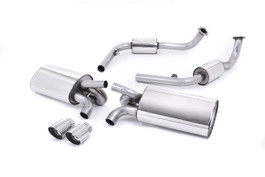 Milltek Cat-Back Exhaust, Polished Tips without Rear Catalysts for Porsche Boxster/Cayman 987 Gen 1 (SSXPO120)