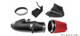 The Eventuri E9X M3 intake system consists of a number of components engineered to perform a specific purpose and fabricated to the highest of standards. Here are the details for each component and the design ethos behind them:   Each intake system consists of: Carbon Fibre Intake Tube High Flow Urethane Cone Filter Carbon Fibre inlet Scoop CNC Machined breather adapter Laser Cut Stainless Steel Debris Guard Silicon Coupler and OEM specification clamps