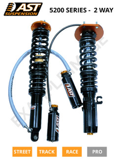 AST Suspension 5200 Series Struts E36 BMW 3 Series Touring 1995-99 (RIV-B1004S). Note: Image used for reference only. Actual part may differ from image.