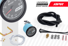 APR Universal Mechanical Boost Gauge System, Blue Needle