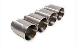 Active Autowerke Rear Exhaust Tips, Brushed Stainless Steel for F8X BMW M3 & M4 (AA-ExhTp-SS-F8x)