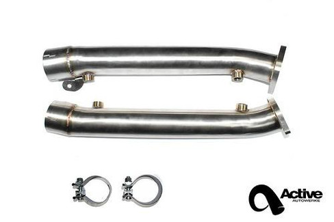 Active Autowerke Brushed Stainless Steel Test Pipe Kit for BMW E9x M3 (2008-13)