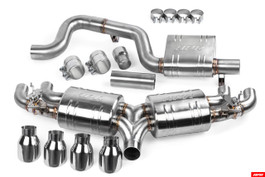 APR Catback Exhaust with Valves & Rear Mufflers for VW Mk7 Golf R (pre-facelift) (CBK0021)