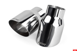 "APR Slash-Cut Single-Walled 3.5"" Polished Silver Exhaust Tips - Set of 2 Tips (TPK0005)"