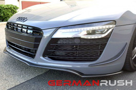 German Rush Front Splitter Carbon Fiber for Audi 2007-15 (GR8CFGRFS0715)
