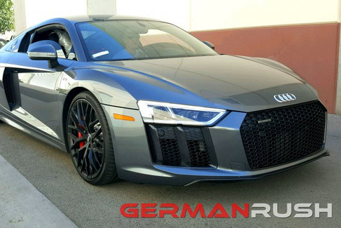 German Rush Front Splitter, Paintable Fiber Glass for Audi R8 2007-15 (GR8FS16)