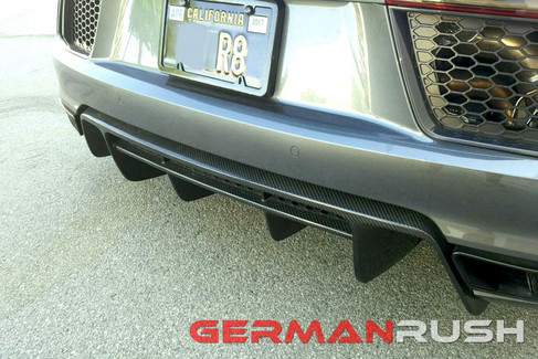 German Rush Carbon Fiber Rear Diffuser for Audi R8 2016-18 (GR8CFRD16)