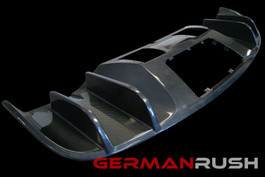 German Rush Carbon Fiber V8 Style Rear Diffuser for Audi R8 2007-12