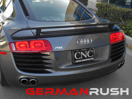 German Rush Paintable Fiber Glass GT Style Wing for Audi R8 2007-15 (GR8GTWNG0713)