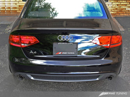 AWE Quad Outlet Bumper Conversion Kit W/ Lower Valance and Trim Strip for B8 A4 2.0T Avant - S-Line Cars (1165-41020)