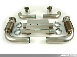 AWE Performance Muffler with 200 Cell Cats for 997 GT2 with Diamond Black Tips (3010-33046)