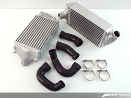 AWE Performance Intercoolers for Porsche 997 Turbo / GT2 - Black Hoses (4510-11046)