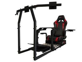 GTR Simulator GTA-Pro Model Racing Simulator Home Workstation Racing Cockpit with Real Racing Seat and Racing Rig Control Mounts (GTAP)