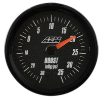 AEM Electronics Analog Boost SAE Gauge. -30~35psi (30-5132)