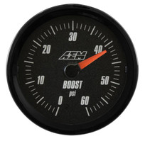 AEM Electronics Analog Boost SAE Gauge. 0~60psi (30-5137)