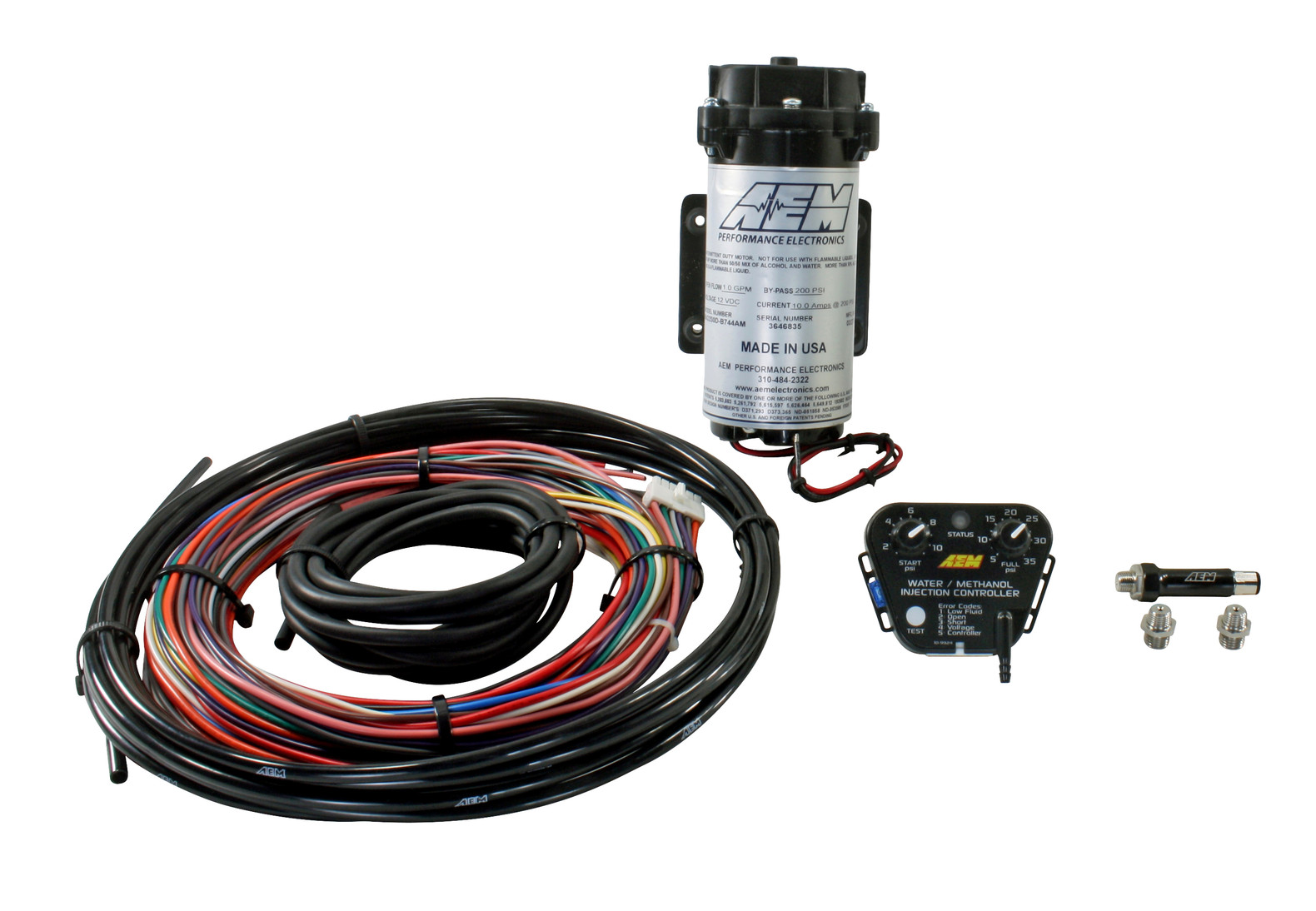 AEM Electronics 30-3302 V2 Water/Methanol Injection Kit No Tank Replacement  Parts Engines & Engine Parts g2-publicidad.com   Aem Water Methanol Wiring Harness      G2 Publicidad