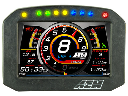 AEM Electronics CD-5F Carbon Flat Panel Non-Logging/ Non-GPS Information Display Module (30-5600F)