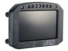 AEM ELectronics CD-5LG Carbon Logging & GPS-Enabled Flat Panel Digital Dash Display (30-5603F)