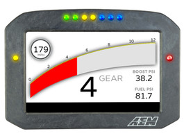 AEM Electronics CD-7F Carbon Flat Panel Digital Dash Display (30-5700F)