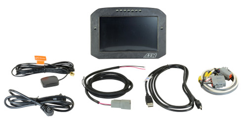 AEM Electronics CD-7FLG Carbon Logging & GPS-Enabled Flat Panel Digital Dash Display (30-5703F)