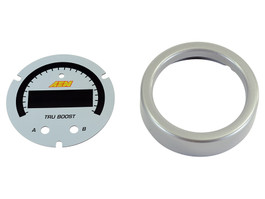 AEM Electronics Tru-BoostX Boost Controller Gauge Accessory Kit, Silver Bezel and White Faceplate