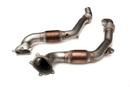 HPA Motorsport Downpipes with 300 Cell Cats for Audi 4.0T C7 S6/S7 (HVA-271-STREET)
