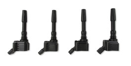 ACCEL IGNITION COILS for 2014-2019 VW/AUDI 1.8/2.0L ENGINES, 4-pack BLACK (140088K-4)