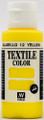 Acrylicos Vallejo Textile Color Yellow 60ml