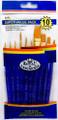 Royal Langnickel Super Value Pack Golden Taklon Brush Set of 10 Pieces No. SVP-2